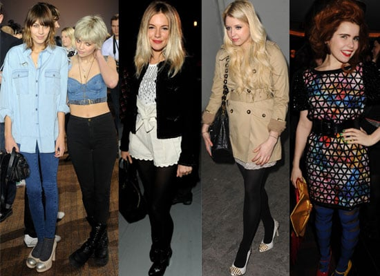 Photos of Celebs at Parties and in the Front Row at London Fashion Week 2010 Including Alexa Chung, Sienna Miller 2010-02-22 04:17:00