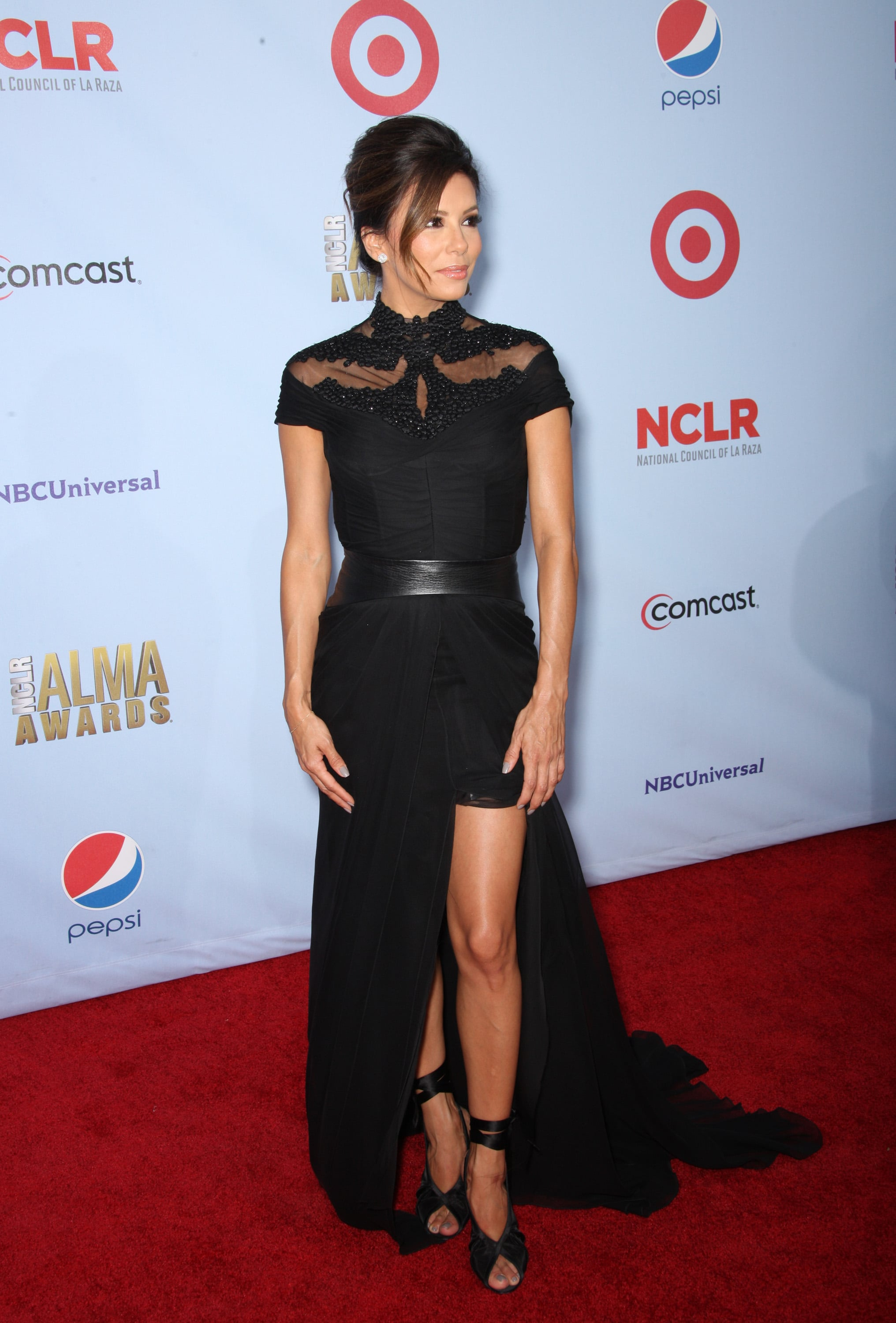 Eva Longoria arrived at the 2012 NCLR ALMA Awards at Pasadena Civic Auditorium.