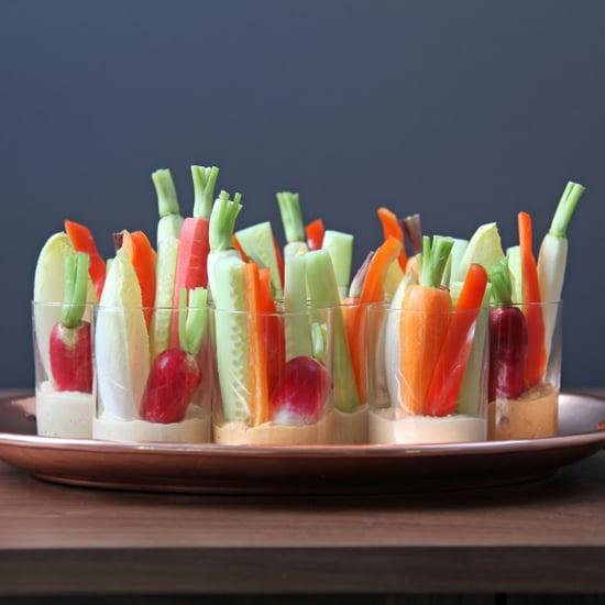 Individual Hummus and Crudites Appetizers