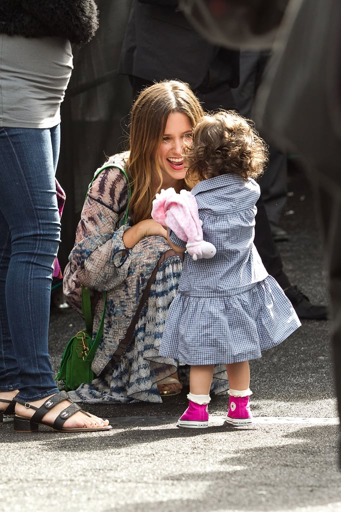 Sophia Bush with a young friend at NYFW.