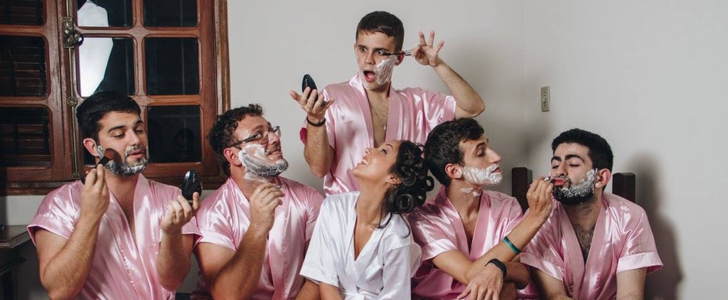 "This Bride Just Had the Most Epic Photo Shoot With Her 5 ""Bro-Maids"""