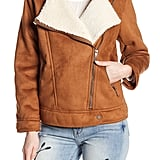 Lucky Brand Faux Suede & Faux Shearling Moto Jacket
