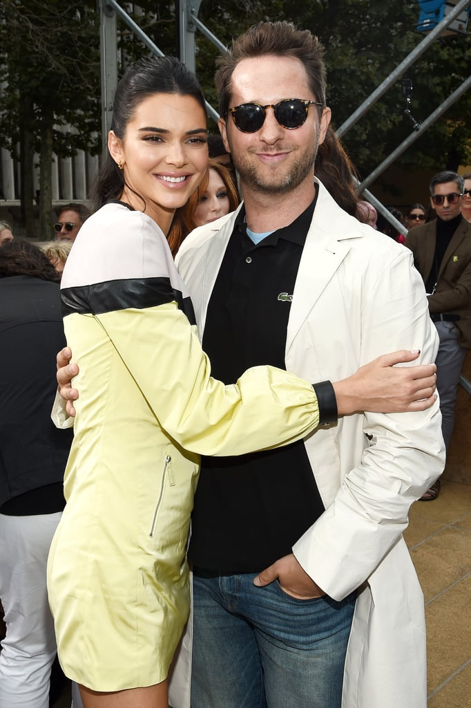 Derek Blasberg and Kendall Jenner at Longchamp Spring 2020