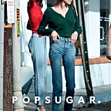 Kendall and Kaia Wore Red and Green Sweaters With Their Mom Jeans