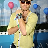 Ed Westwick wore his sunglasses at night.