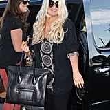 Jessica Simpson Struts Her Stuff at the Airport With Eric and Maxwell