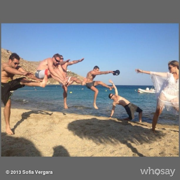 "Did Sofia Vergara just ""Dragon Ball"" a bunch of guys on the beach?! Source: Sofia Vergara on WhoSay"