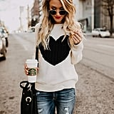 Shermie Pullover Heart Sweater
