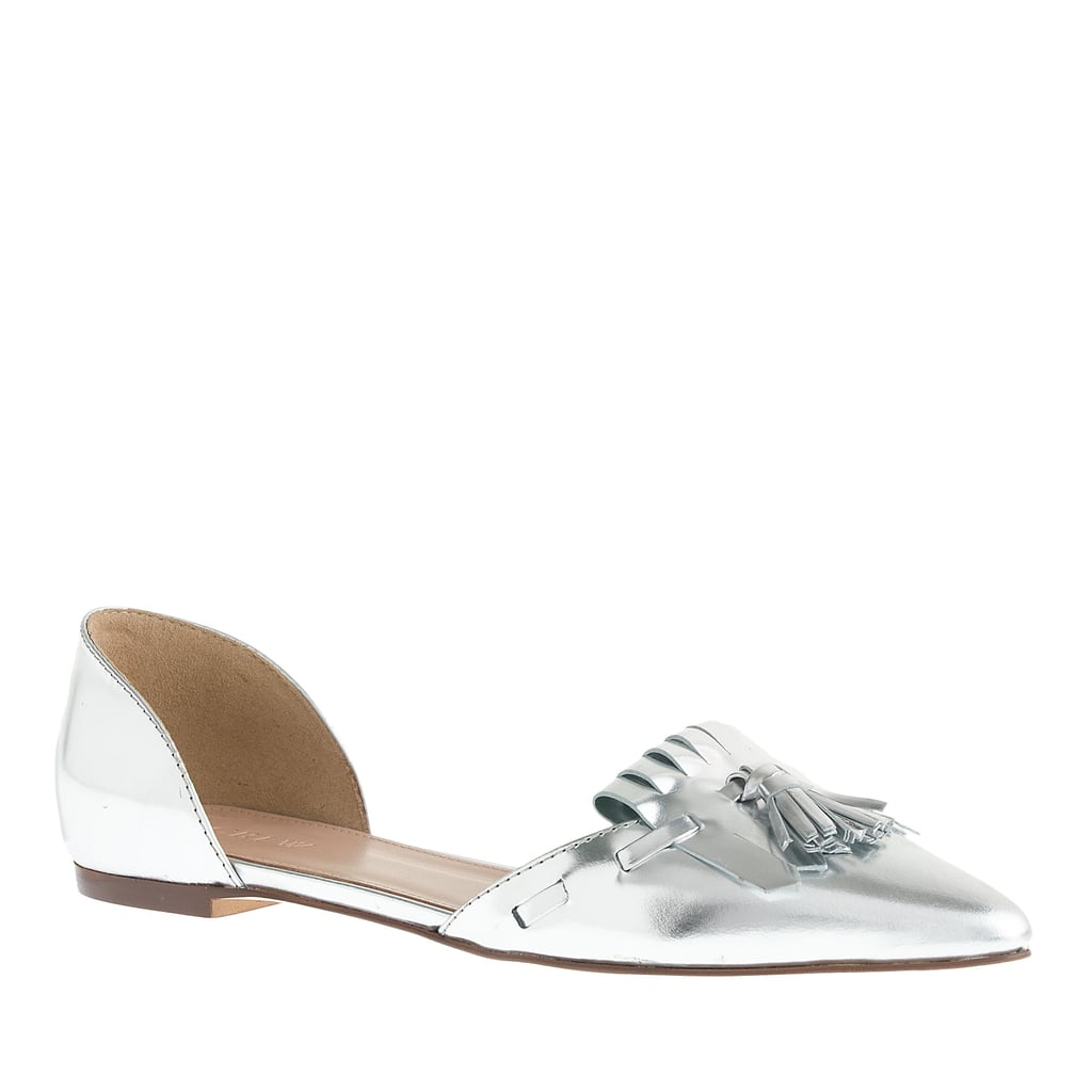 J.Crew Mirror d'Orsay Loafer Flats ($158)