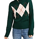 Tommy Hilfiger Argyle Turtleneck Sweater
