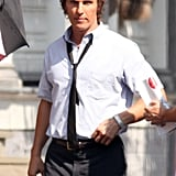 Matthew McConaughey reported to the Louisiana set of The Paperboy.