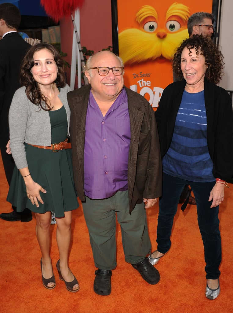 Danny DeVito posed with friends before going in to see the animated film.