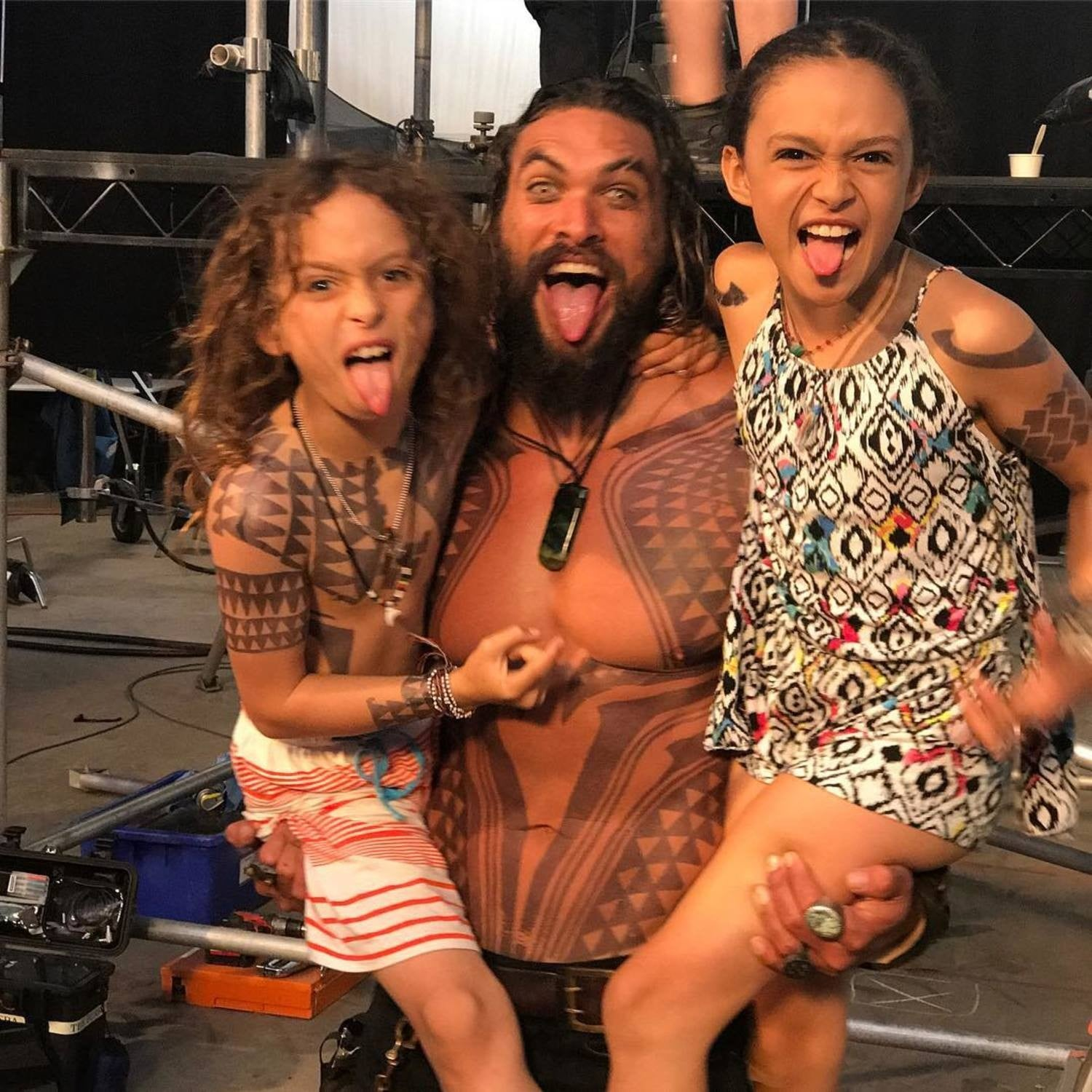 Pictures Of Jason Momoa Hiking With His Kids Popsugar Family