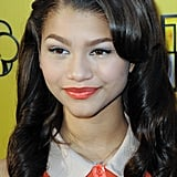 Zendaya's Coral Lipstick at the Let It Shine Premiere in 2012