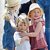 Savannah Phillips, Mia Tindall, and Isla Phillips