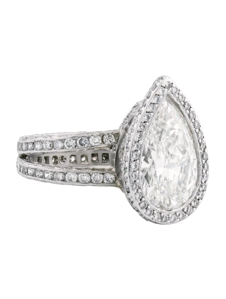 multi princesscut v w t engagement multirow cut row ct diamond p in frame ring princess tw composite white gold