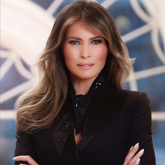 Melania Trump's Blazer in Official White House Portrait 2017