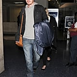 Kirsten Dunst and Garrett Hedlund got off a plane at LAX together.