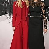 Elle Fanning and Angelina Jolie at the Maleficent: Mistress of Evil London Photocall