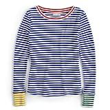 قميص مقلّم بخطوط متباينة ذو ياقة دائريّة واسعة من مجموعة POPSUGAR at Kohl's