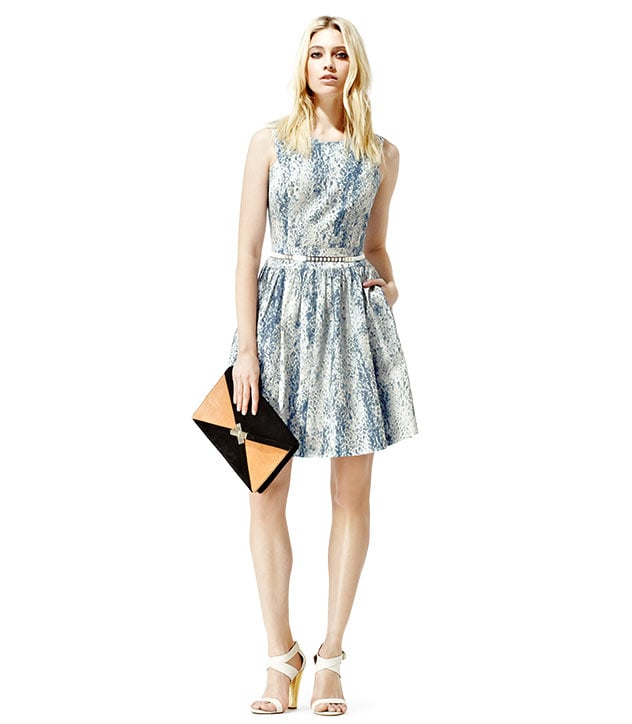 """""""I've been on the prowl for a dress that can work overtime as both a daytime-cool option and as a suitable wedding guest ensemble — and I think I just found it."""" — Marisa Tom, associate editor  Reiss Leah Fit and Flare Dress ($340)"""