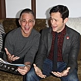 On Friday, Joseph Gordon-Levitt and Tony Danza goofed around at Sundance.