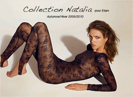 Photos of Natalia Vodianova Lingerie for Etam Autumn 2009