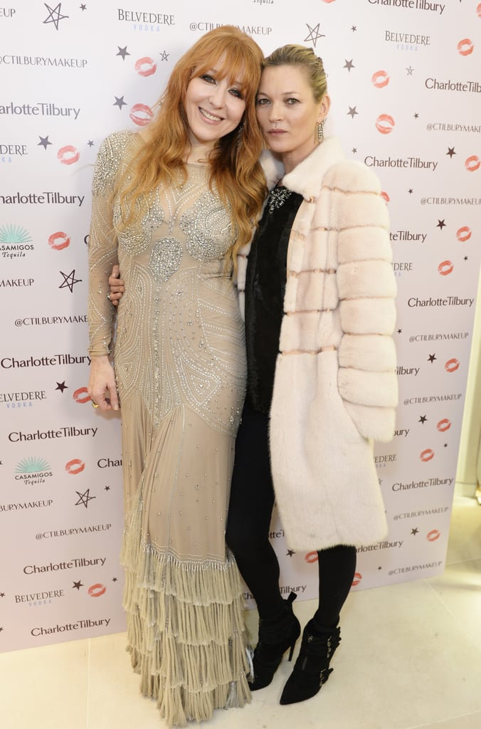 Kate Moss at the Charlotte Tilbury Christmas Party