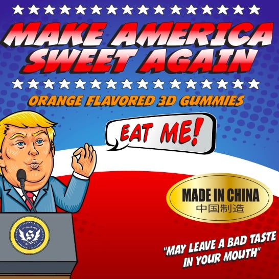 IT'SUGAR 3D-Printed Trump Gummies