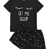 Wdirara Closed Eyes Pajama Set