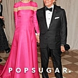 She walked hand in hand with designer Valentino Garavani at the May 2013 Met Gala in NYC.