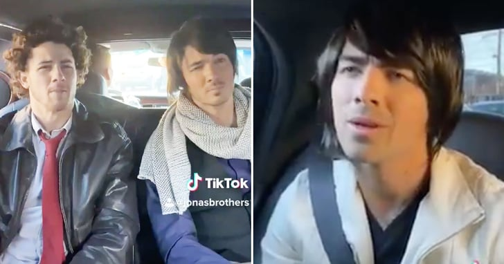 The Jonas Brothers Recreated a Camp Rock Scene on TikTok — Yes, Wigs Included!
