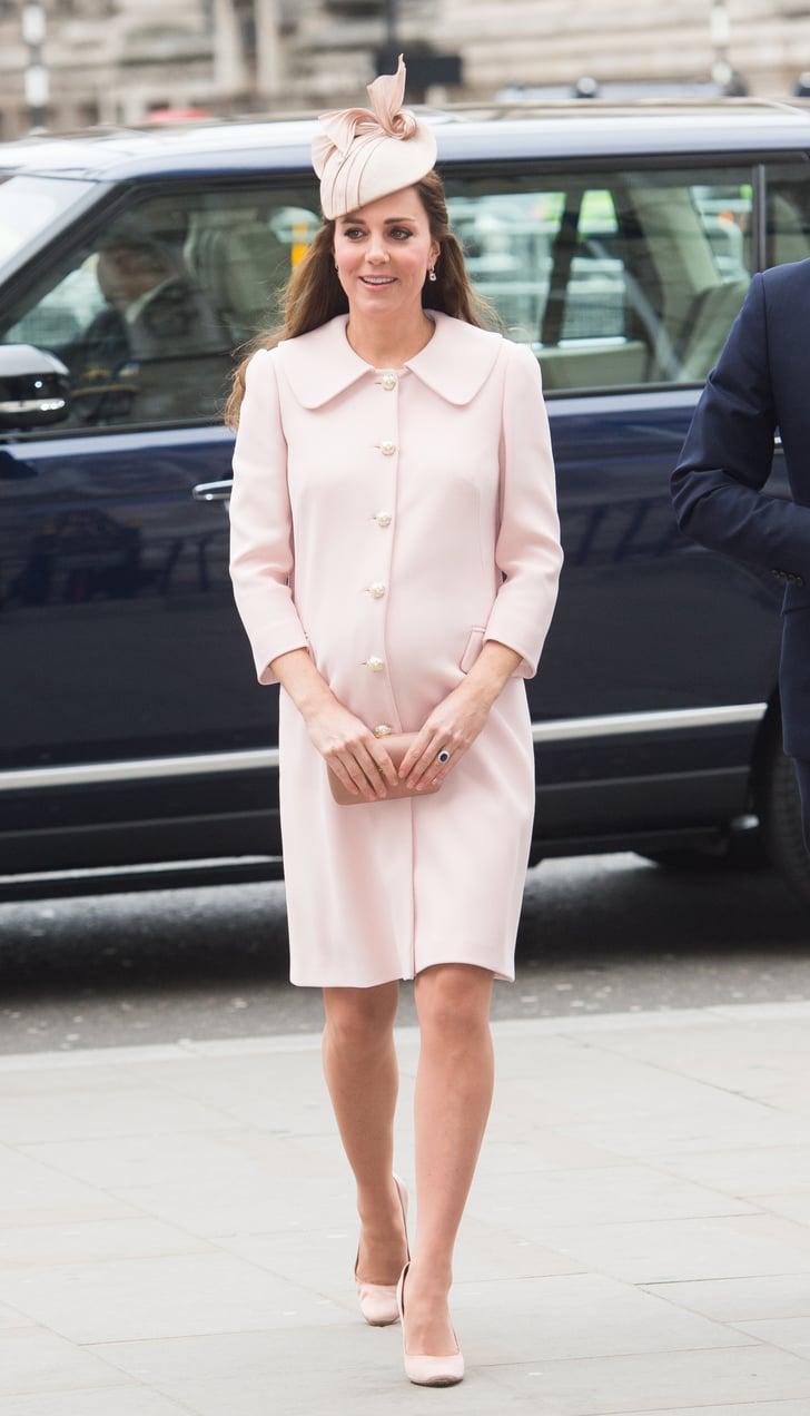 When She Got All Feminine In Pale Pink Best Kate Middleton Style 2015 Popsugar Fashion Photo 4