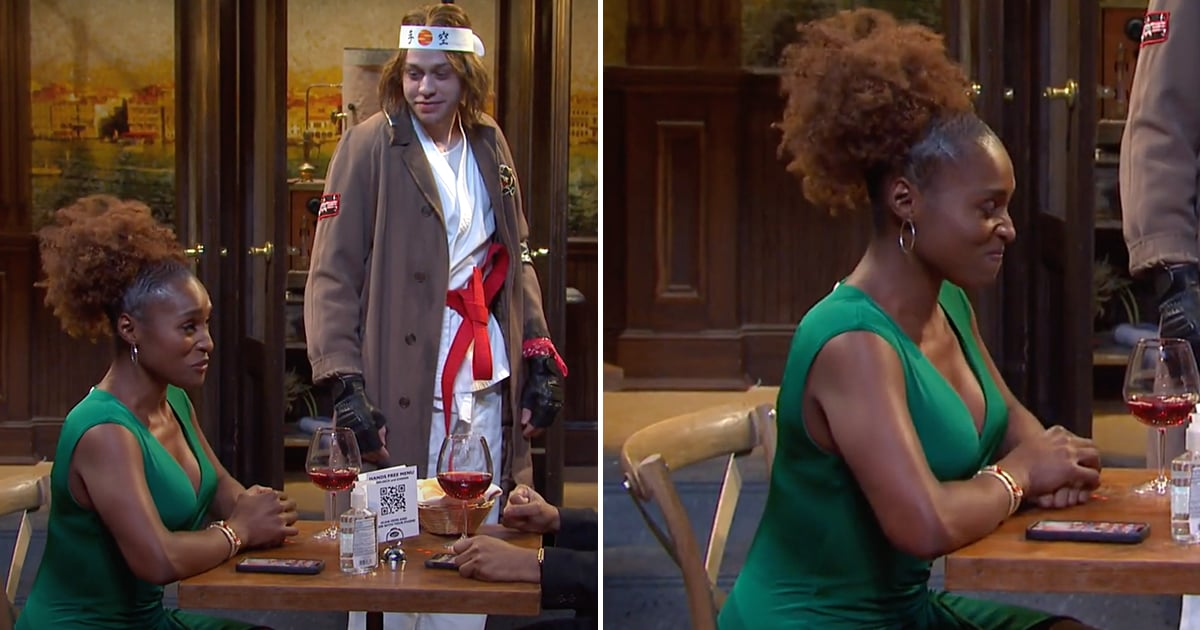 SNL: Issa Rae Almost Breaks Character During the World's Most Awkward First Date