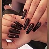 Khloe Kardashian's Dark Nail Polish