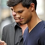 Taylor Lautner went to work in London.
