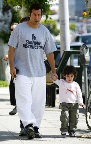 Adam Sandler and daughter Sadie walking along.