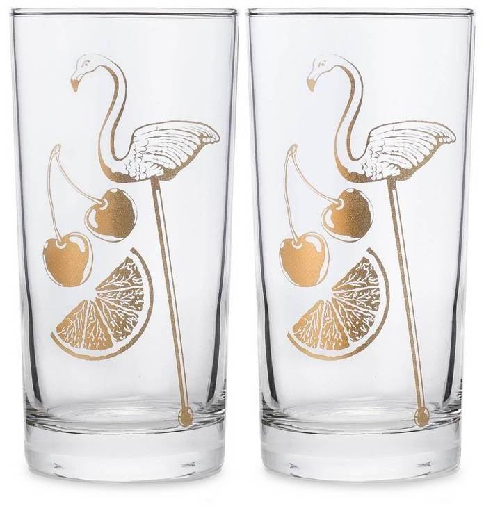 Flamingo Glasses (Set of 2) ($39)