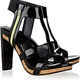 The cork layer and neon zipper are too cool to pass up. See by Chloé Patent Leather Sandals ($355)