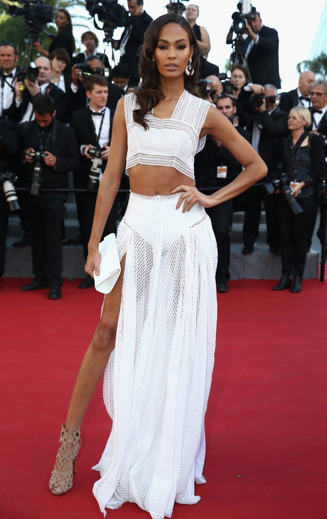 Joan Smalls showed off her killer stems and toned abs in a white Alaïa two-piece ensemble in 2015.