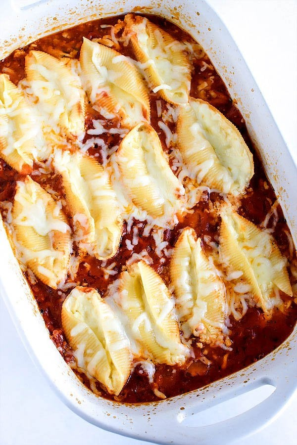 Ricotta Stuffed Shells With Marinara Stuffed Shells