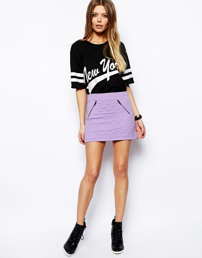 ASOS Quilted Miniskirt With Zips ($41)