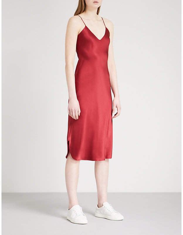 Nili Lotan Short silk-satin slip dress