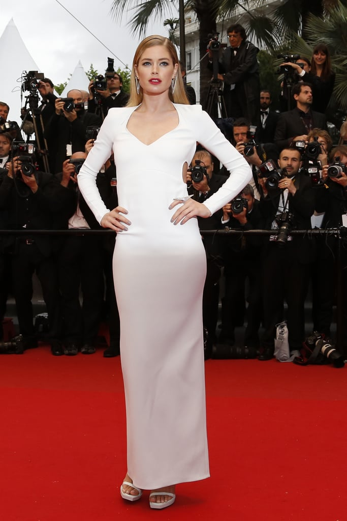 Doutzen Kroes in Calvin Klein Collection at the Cannes premiere of Jimmy P. (Psychotherapy of a Plains Indian).
