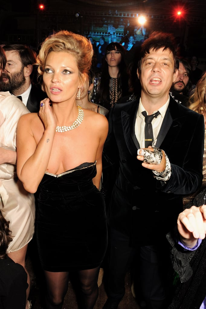 Kate Moss and Jamie Hince partied the night away at Fran Cutler's surprise birthday party in London.