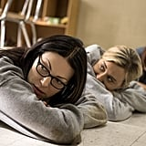 We'll go ahead and assume Alex (Laura Prepon) and Piper (Taylor Schilling) aren't chilling on the ground for fun.