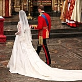 Will and Kate held hands on their wedding day.