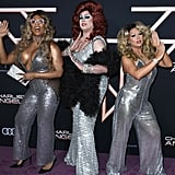 Peppermint, Nina West, and Farrah Moan at the Charlie's Angels Premiere