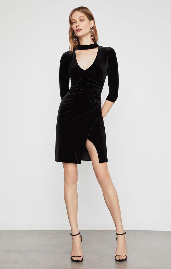 BCBG Velvet Choker Sheath Dress