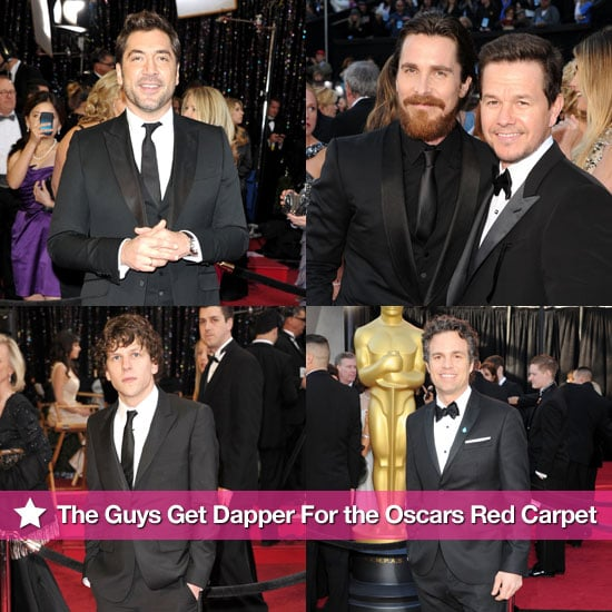 Javier Bardem, Mark Wahlberg, Christian Bale, Jesse Eisenberg and More Men on the 2011 Oscars Red Carpet